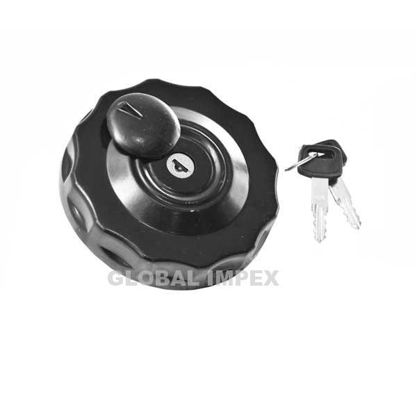 Diesel tank cap with key